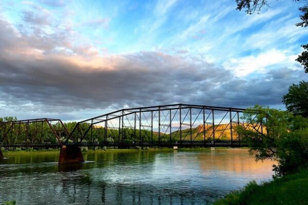 Bridge in Fort Benton over the Missouri River