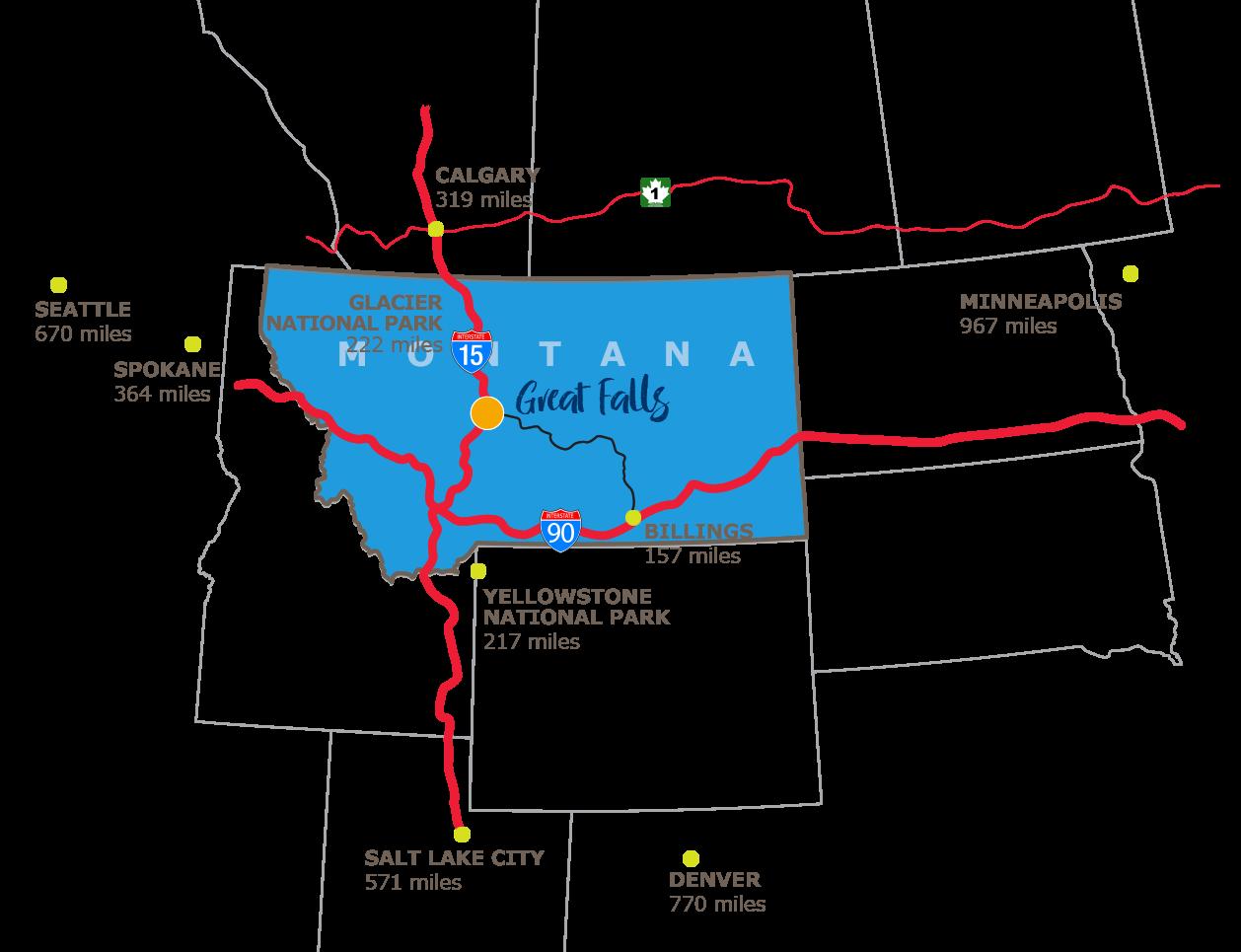 Visit Great Falls Montana Getting Here Visit Great Falls Montana