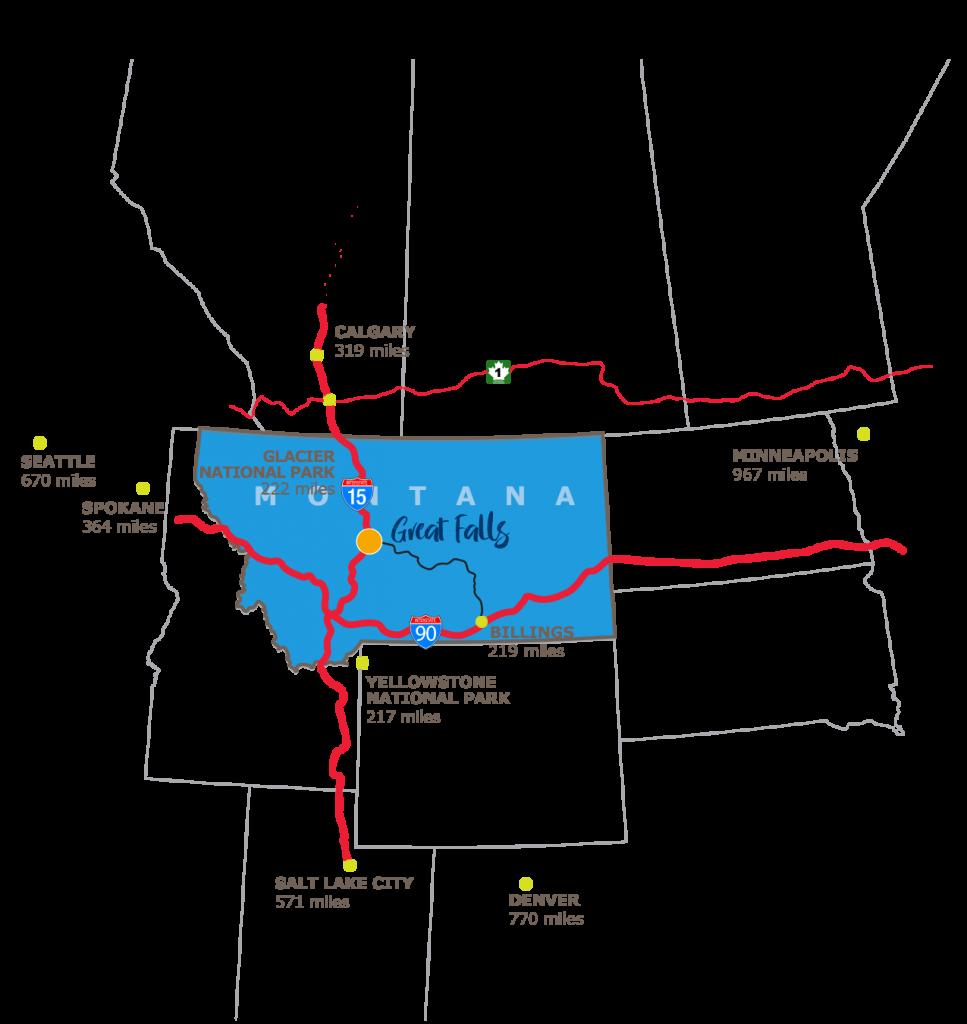 Visit Great Falls Montana - Getting Here - Visit Great Falls Montana ...