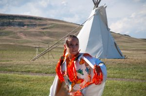 Fancy dancer at First Peoples Buffalo State park