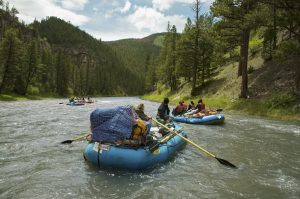 Raft guides on Smith River