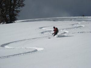 back country skiing near Great Falls Montana